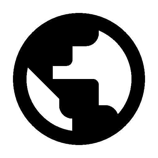 weltkugel, länderinfo icon