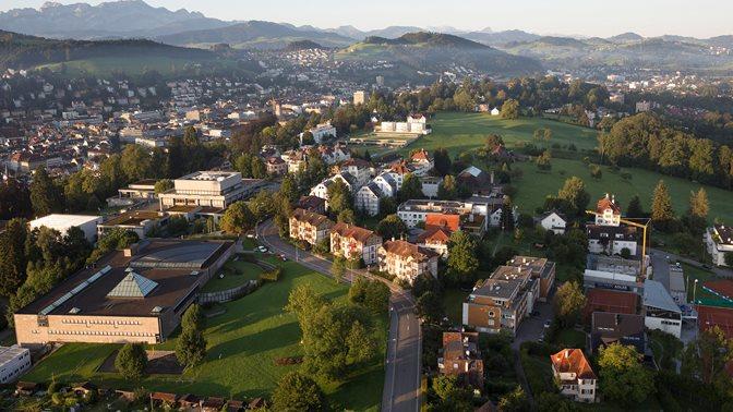 Luftaufnahme HSG und St.Gallen