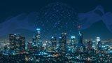 City with night lights